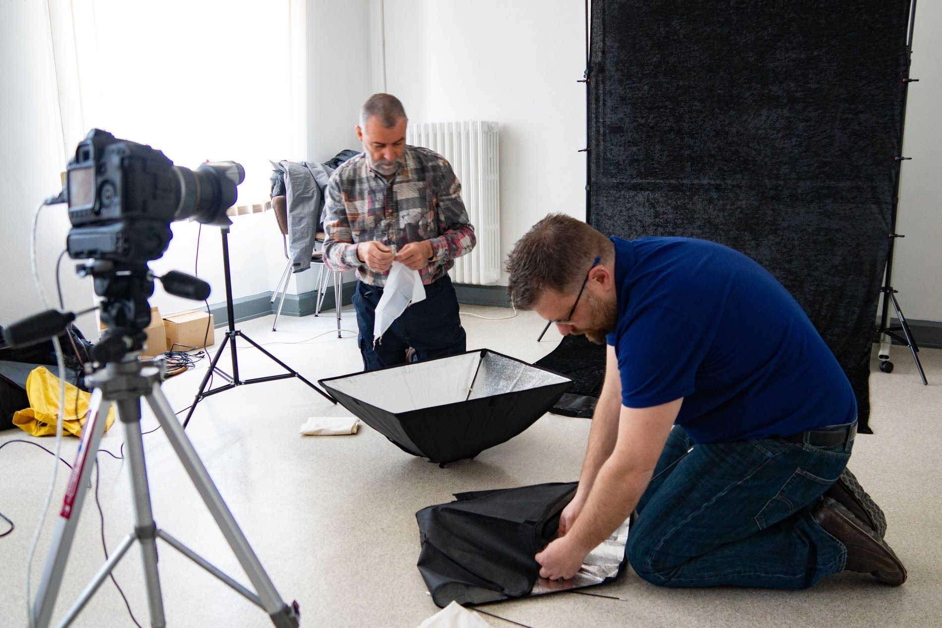 Workshop : mise en place d'un studio photo
